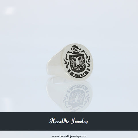 Delage family crest ring