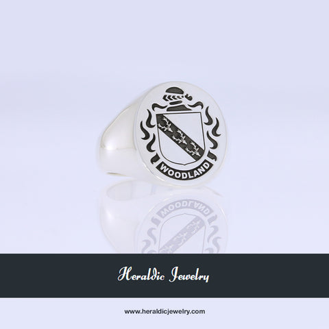 Woodland family crest ring