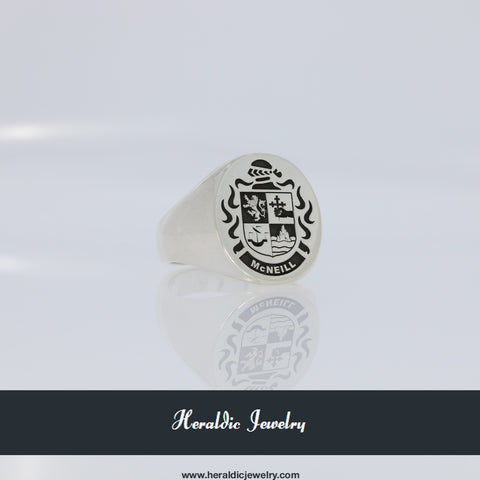McNeill family crest ring