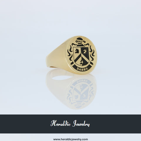 Dabbs family crest ring