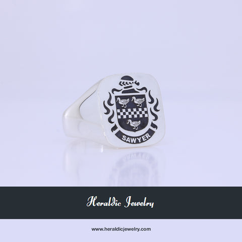 Sawyer family crest ring