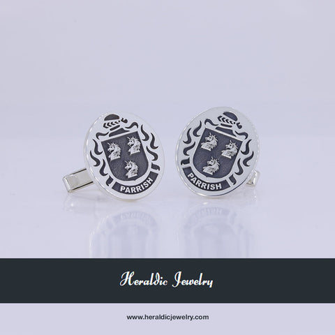 Parrish family crest cufflinks