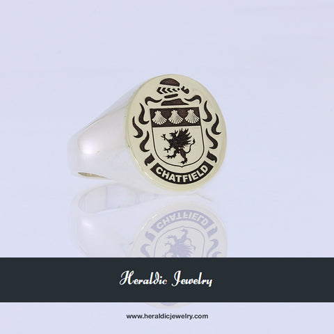Chatfield family crest ring