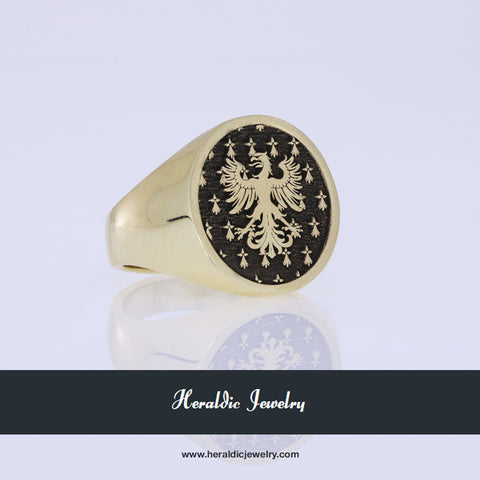 Bedingfield family crest ring