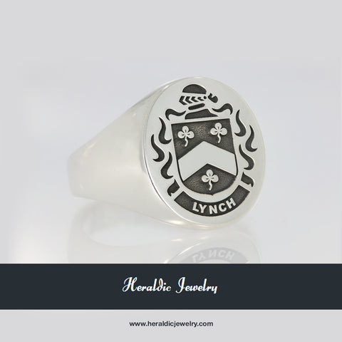 Lynch coat of arms ring