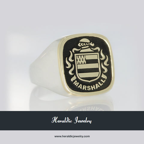 Marshall coat of arms ring