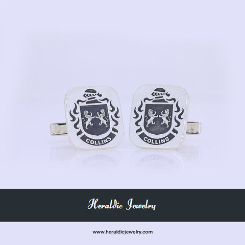 Collins family crest cufflinks