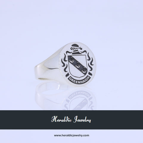 Greenhaigh family crest ring