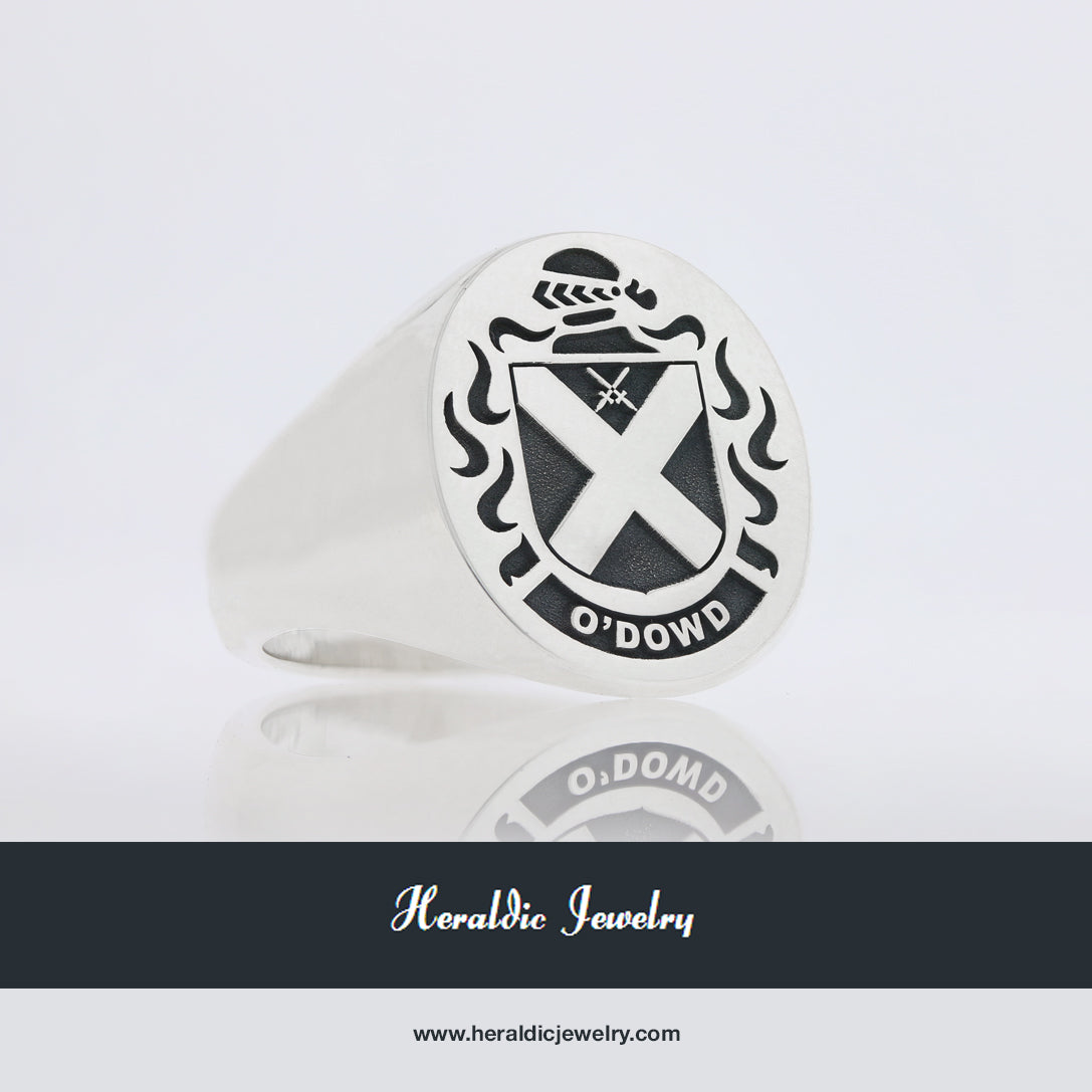 O'Dowd family crest ring