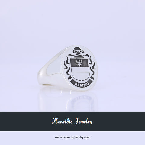 Alaimo family crest ring