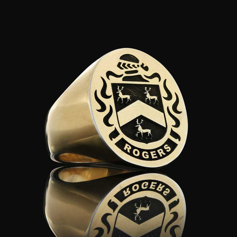 Rogers coat of arms ring