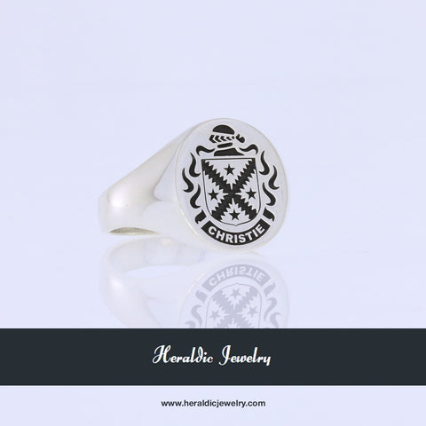 Christie family crest ring
