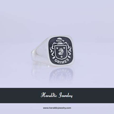 Grimes family crest ring