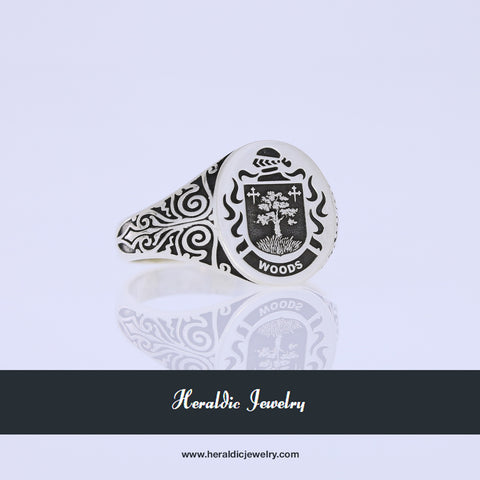 Woods coat of arms ring