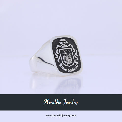 MacDonald family crest ring