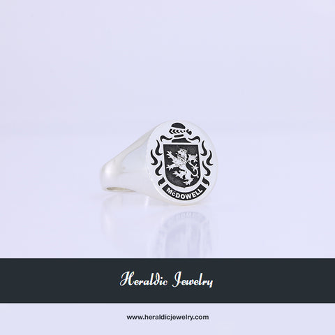 McDowell family crest ring
