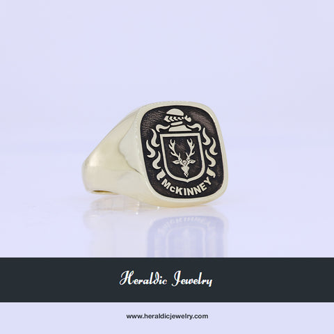 McKinney coat of arms ring