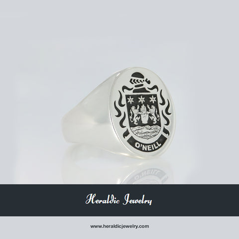 O'Neill family crest ring