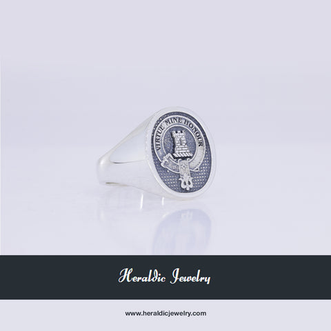 MacLean clan crest ring silver