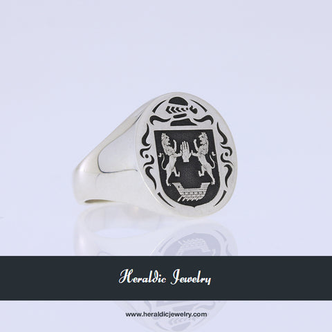 Flaherty family crest ring