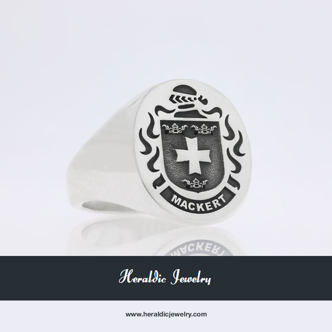 Mackert family crest ring