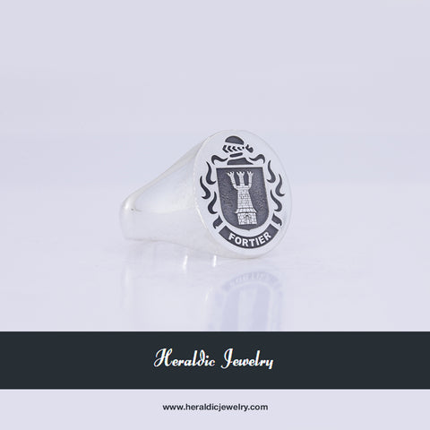 Fortier family crest ring