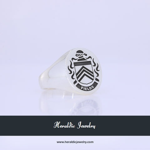 Fields family crest ring