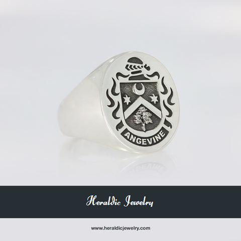 Angevine family crest ring