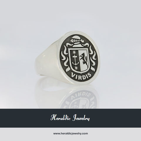 Virdis coat of arms ring