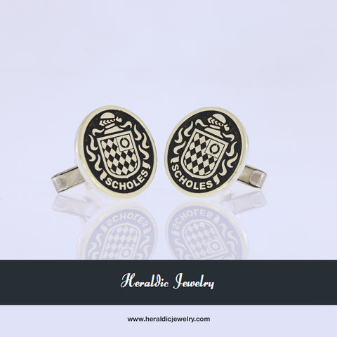 Scholes coat of arms cufflinks