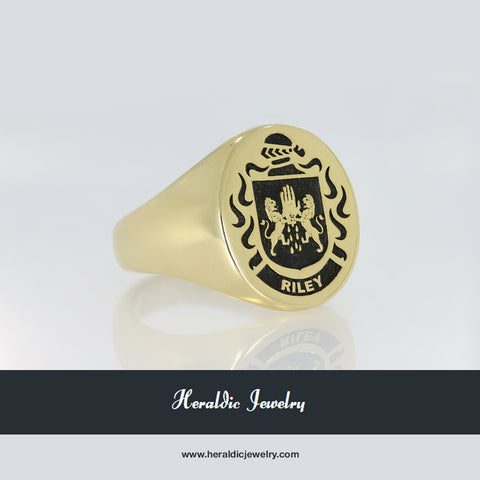 Riley coat of arms ring