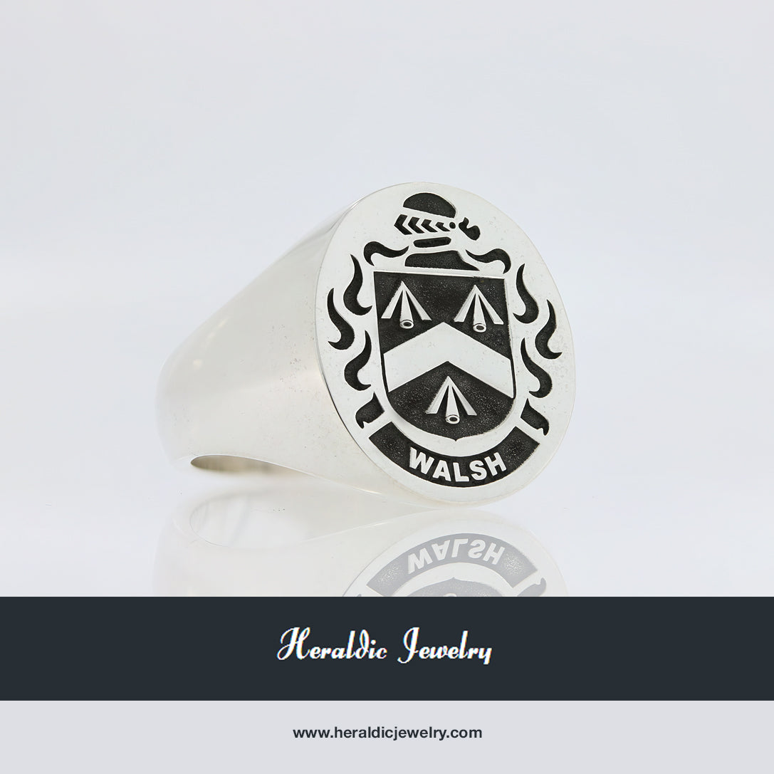 Walsh family crest ring