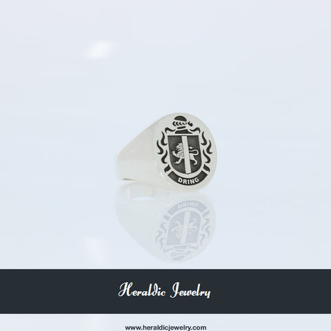 Dring family crest ring