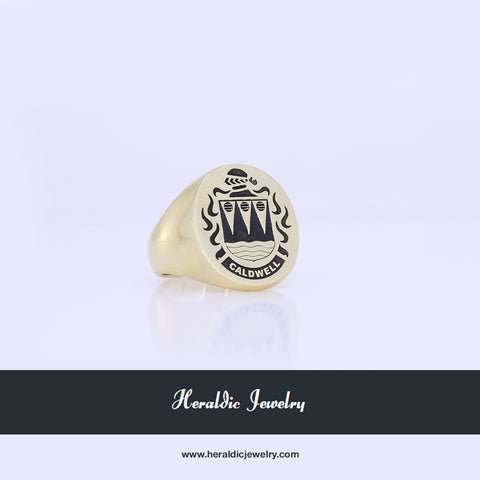 Caldwell family crest ring