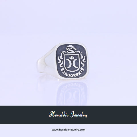 Zagorski family crest ring