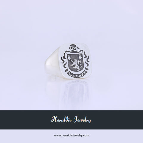 McCauley family crest ring