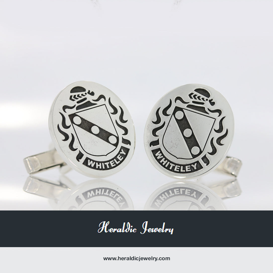 Whiteley family crest cufflinks