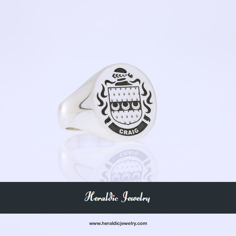 Craig coat of arms ring