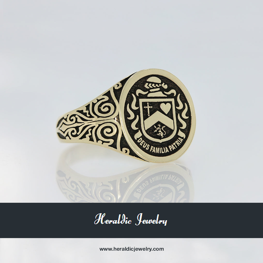 Powers family crest ring