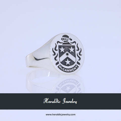 McCamment family crest ring