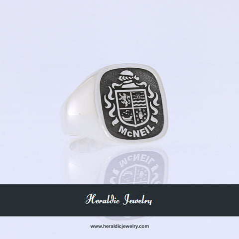 McNeil family crest ring