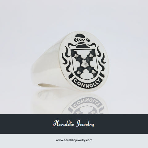Connolly family crest ring