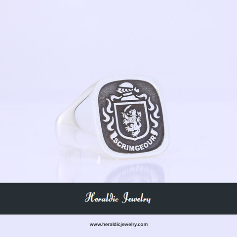 Scrmgeour family crest ring