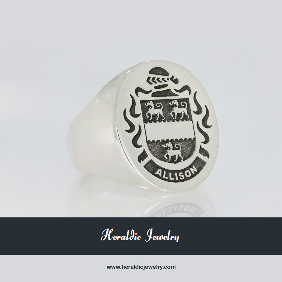 Allison family crest ring