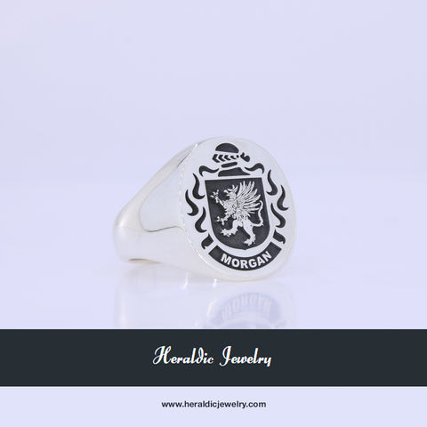 Morgan coat of arms ring
