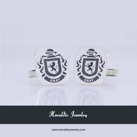 Gray family crest cufflinks