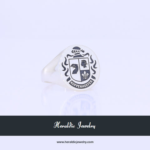 Koppenhoefer family crest ring