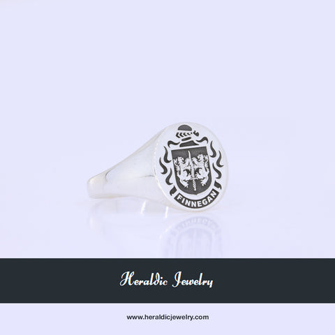 Finnegan family crest ring