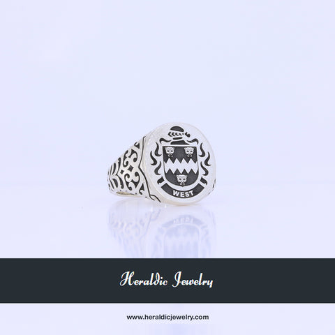 West coat of arms ring
