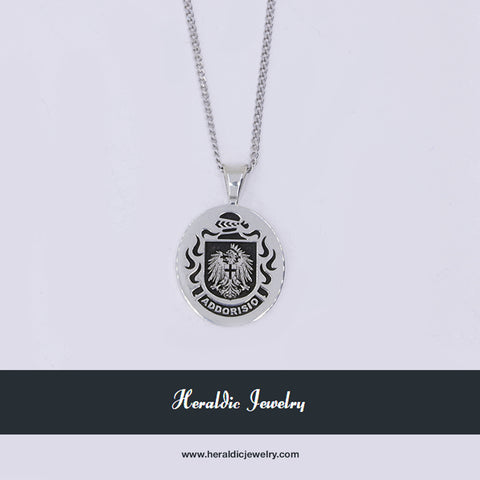 Italian family crest pendant and necklace